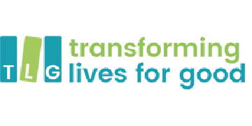 TLG (Transforming Lives for Good) logo