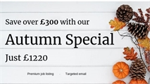 Save over £300 with our exclusive Autumn Special!